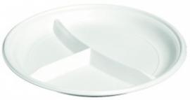 Bord PS 3 vaks 22 cm 100 stuks wit 13 gr.