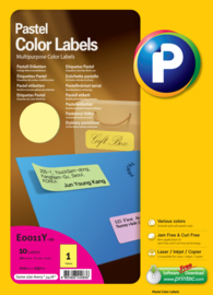Gekleurde labels