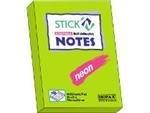 Memoblok Stick'n 76x51mm neon groen