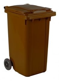 Mini-container 240 ltr bruin