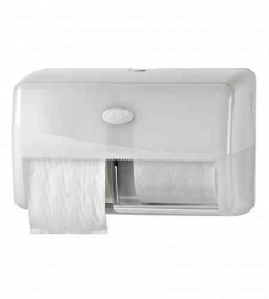 Duo toiletrol houder  compact tbv 2 rol, max. Ø 15 cm (compact), non stop