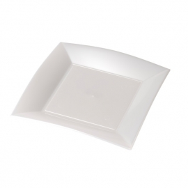 Depa Bord, vierkant, PP, 230x230mm. wit. 25 st.