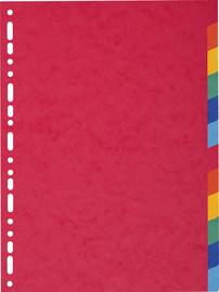EXACOMPTA karton tabbladen 220 g, DIN A4, 12-delig