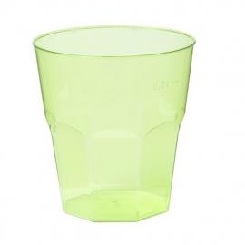 Glas, brasserieglas, PS, summertime, 220ml, neon groen. 25 st.