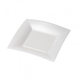 Depa Bord, vierkant, dessertbord, PP, 180x180mm. wit. 25 st.