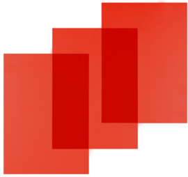 Pavo Rood Transparante PVC omslag A4 200 micron 100 stuks