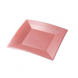 Depa Bord, vierkant, dessertbord, PP, 180x180mm. perzik. 25 st.