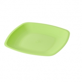 Depa Bord, vierkant, dessertbord, PP, 180x180mm. neon groen. 25 st.