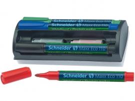 Whiteboardmarker Schneider Maxx Eco 110 assorti etui a 4st. + wisser
