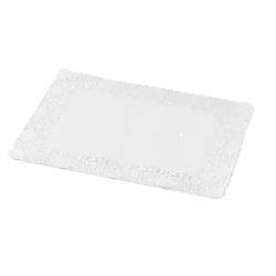 Taartrand papier rechthoekig  30 X 40 cm wit. pak 250 stuks