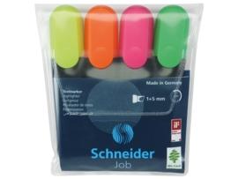 Tekstmarker Schneider Job 150 etui a 4 stuks assorti