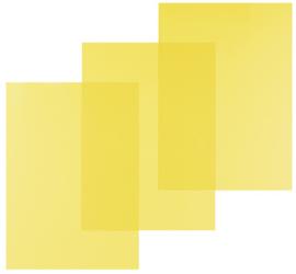 Pavo Geel Transparante PVC omslag A4 200 micron 100 stuks