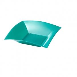 Depa Bord, vierkant, diepbord, PP, 180x180mm. tiffany. 25 st.