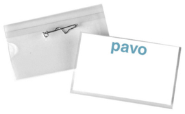Pavo badges met speld 54 x 90 mm 50 st.