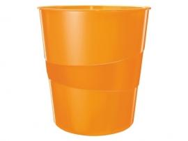 Papierbak Leitz WOW 15liter oranje