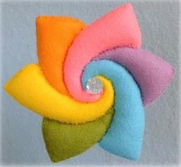 Regenboogbloem - pasteltinten