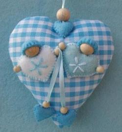 Babyhart blauw