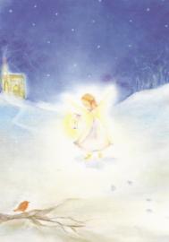 Engeltje in de sneeuw