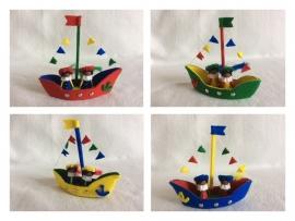 Zwarten Pietenbootjes/ Storm op zee
