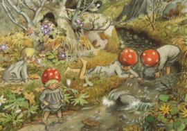 De kabouterkinderen - bij de beek