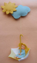 Paraplu met kindje