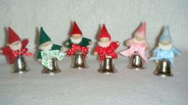 Kabouter op kerstklokje