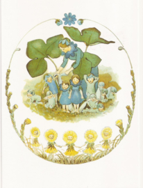 Blauwe anemoonfamilie