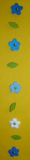 Bloemenhanger - blauw