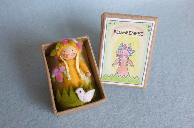 Bloemenfee in een doosje