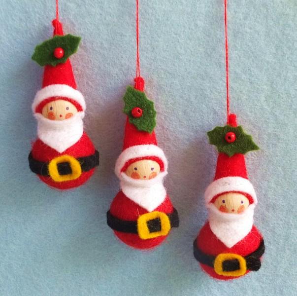 Drie kerstmannetjes