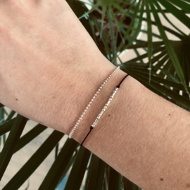 Morse code armband sterling silver