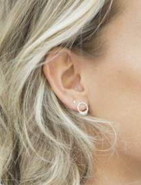 MIAB JEWELS - Oorbellen rosé – circle around