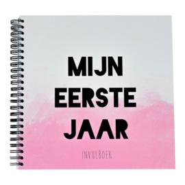 Boek Mijn eerste jaar Roze