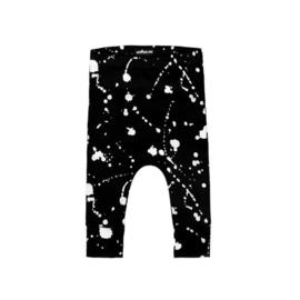 Broek Black Splatter