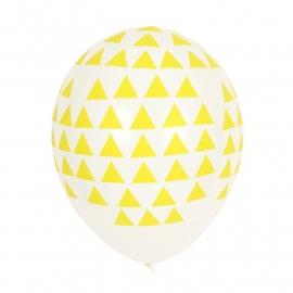 Ballonnen Triangel Geel