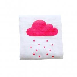Hydrofiele doek Regenwolkjes Roze