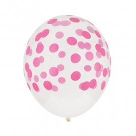 Ballonnen Confetti Fuchsia