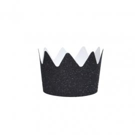 Kroontjes 'Zwart Glitter'