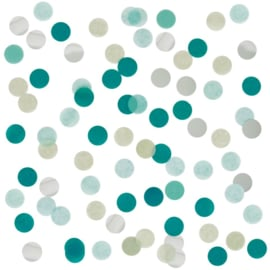 Confetti Groen & Zilver