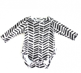 Romper Black & White Arrow