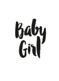 Kaart Baby Girl