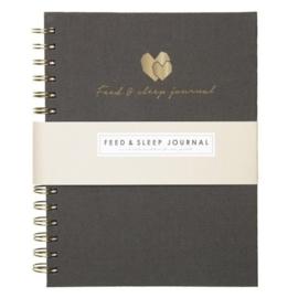 Baby Feed & Sleep Journal | Grey linen