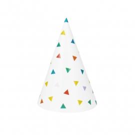 Feesthoedjes 'Triangel Kleur'
