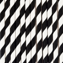 Rietjes Zwart Wit gestreept