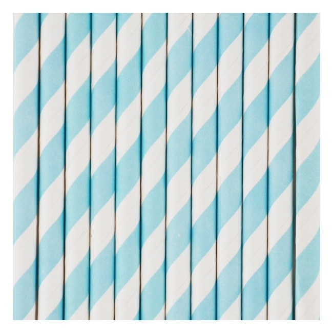 Rietjes Blauw Wit gestreept