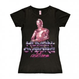 T-Shirt Petite Star Wars - Human Cyborg Relations - Black