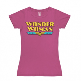 T-Shirt Petite DC - Wonder Woman - Logo - Pink