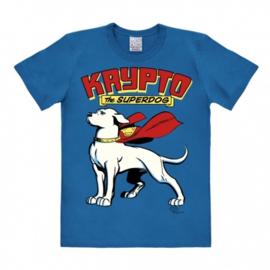 T-Shirt DC - Superdog - Krypto - Azure Blue