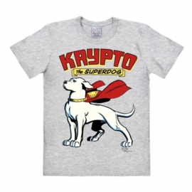 T-Shirt DC - Superdog - Krypto - Grey Melange