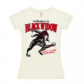 T-Shirt Petite Marvel - Black Widow - Almost White